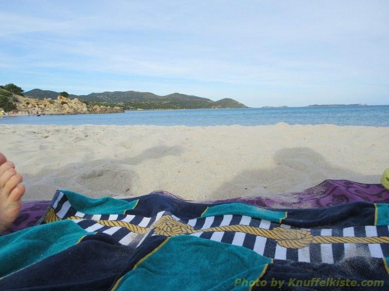 nachmittags Baden gehen an einem anderen Strand...