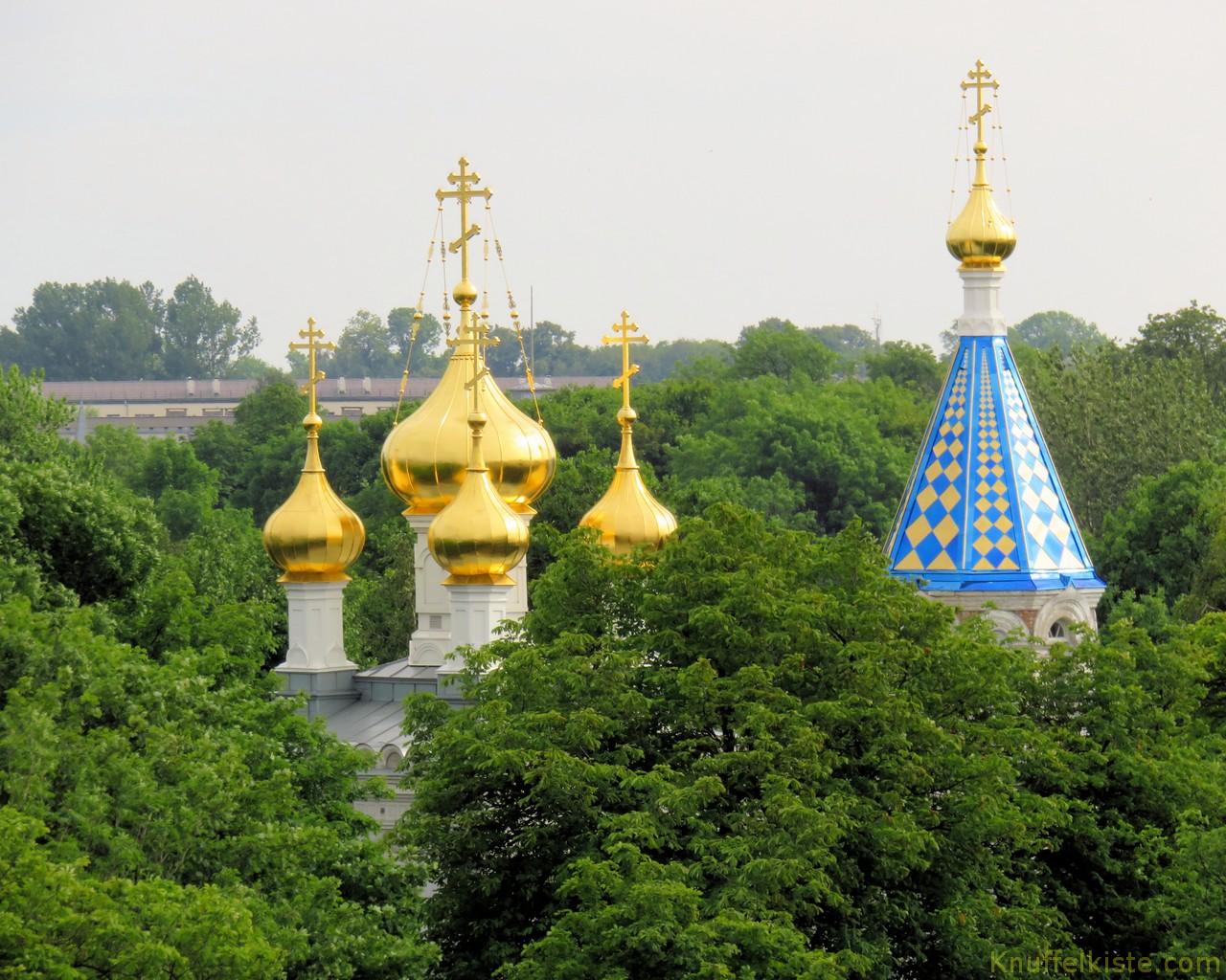 Orthodoxe Kirche am Fährhafen vom Schiff aus gesehen!