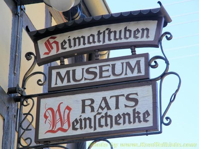 Schild am Museum