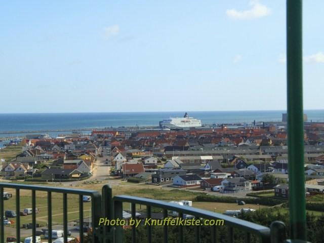 Blick Richtung Stadt und Hafen