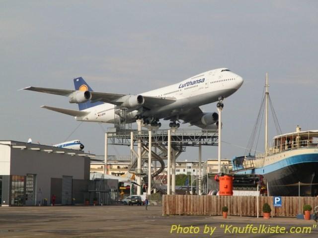 """Die """"Hauptatraktion"""" des Technikmuseums-Boing 747"""