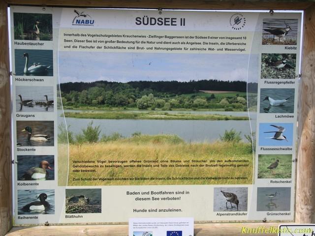 der Naturschutzbereich mit See