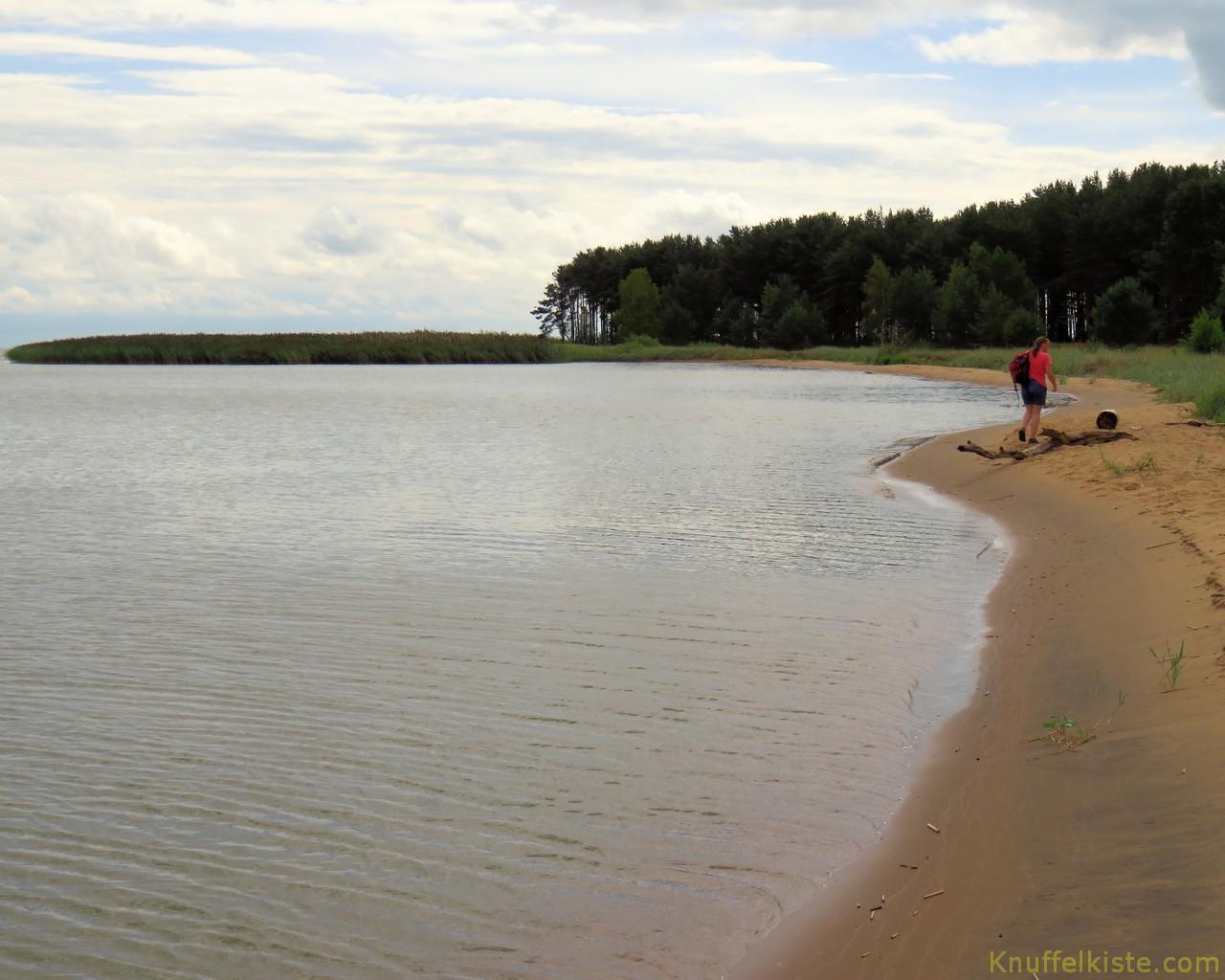 Strand schön einsam!