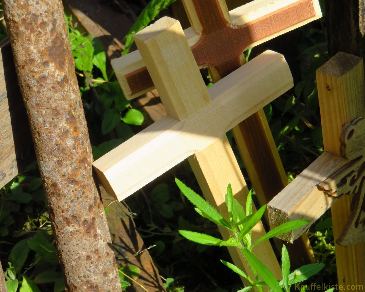 unsere beiden Kreuze,am Berg der Kreuze!