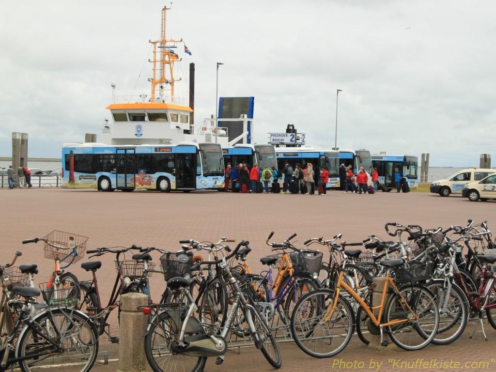 die Anlegestellen der Festlandfähren!
