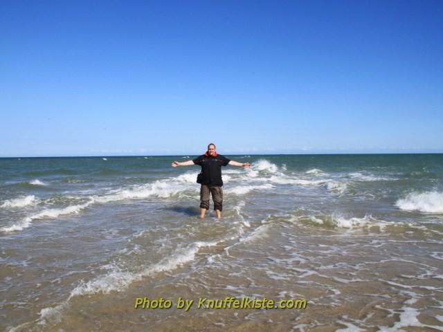 ich jetzt auch, linke´s Bein Ostsee,rechte´s Bein Nordsee !!