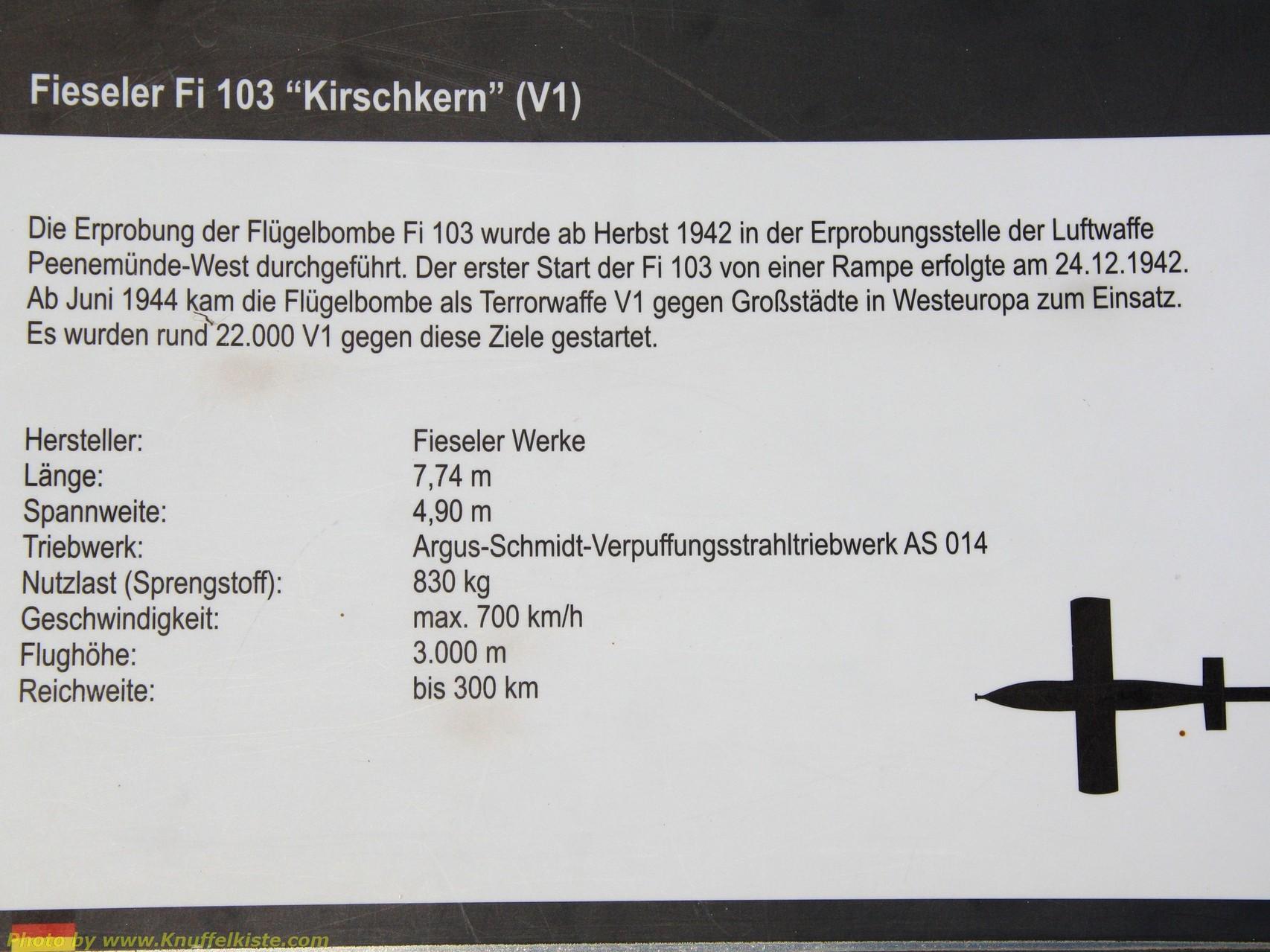 Fieseler Fi 103 (V1) Erklärung