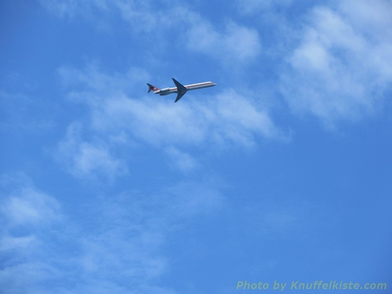 kurz vor Olbia die einen fliegen heim...