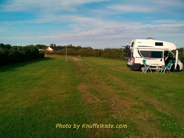 Unser Platz auf dem Campinggelände