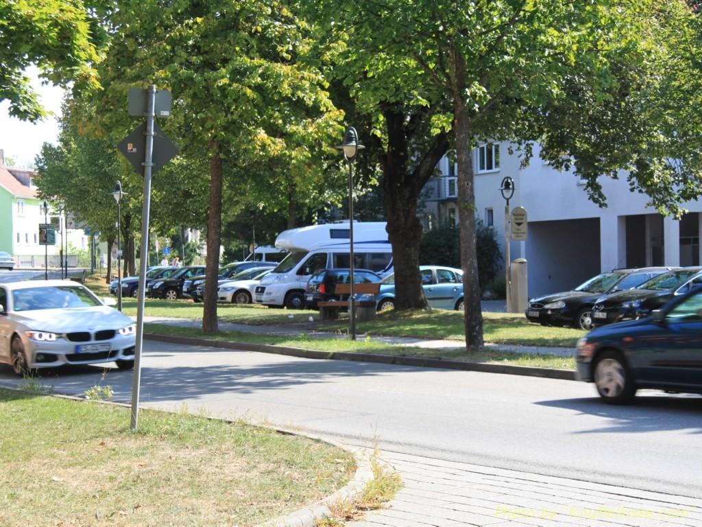 Unser Parkplatz in Nürtingen