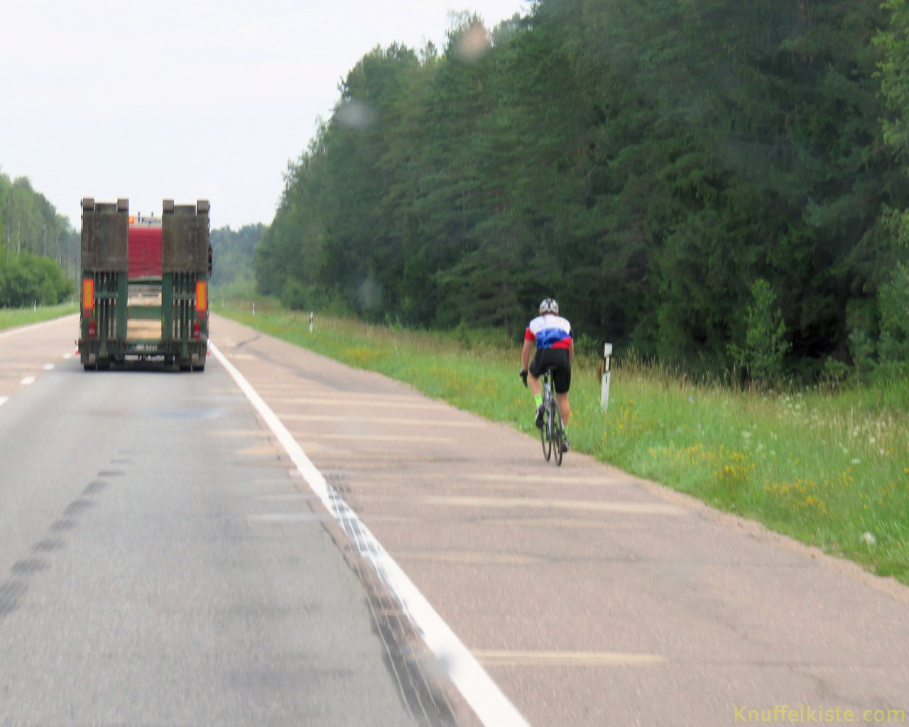 Autobahn mit Radfahrer!