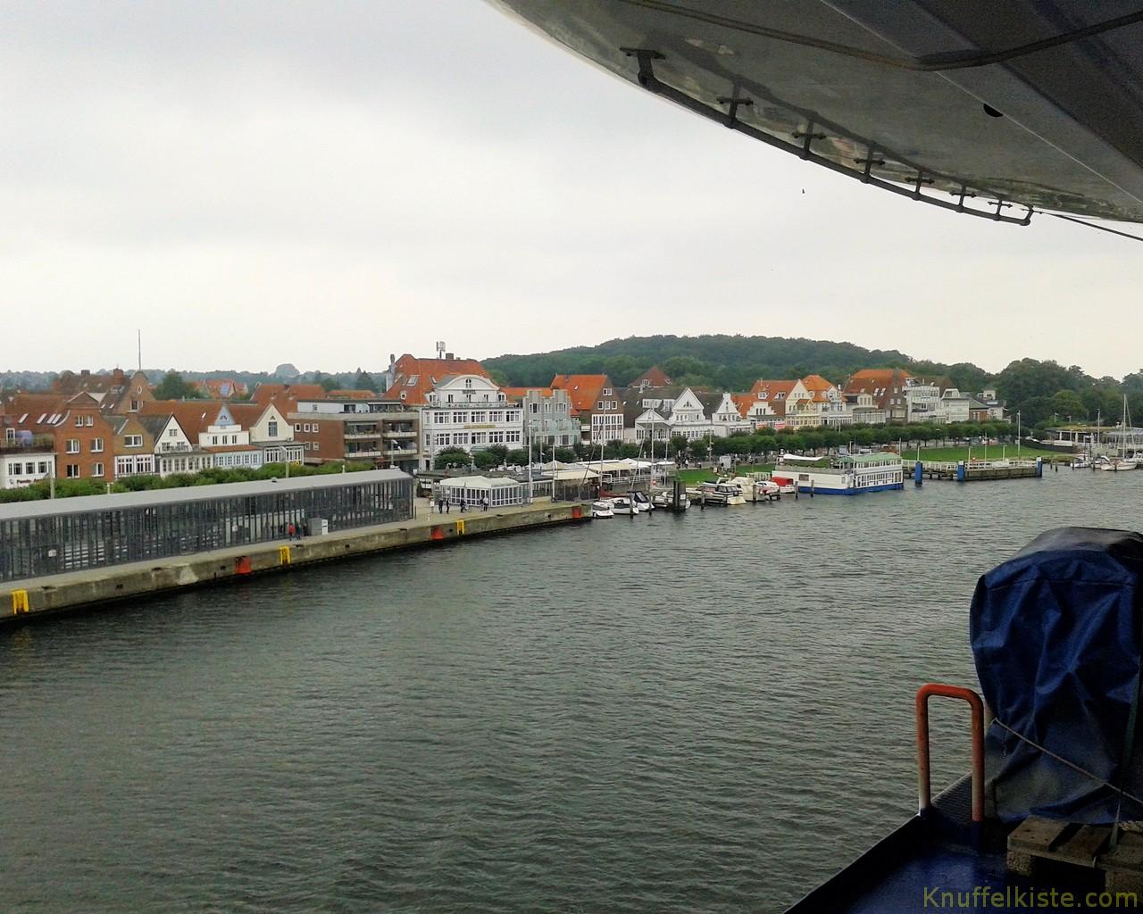 Ankunft im Hafen von Travemünde
