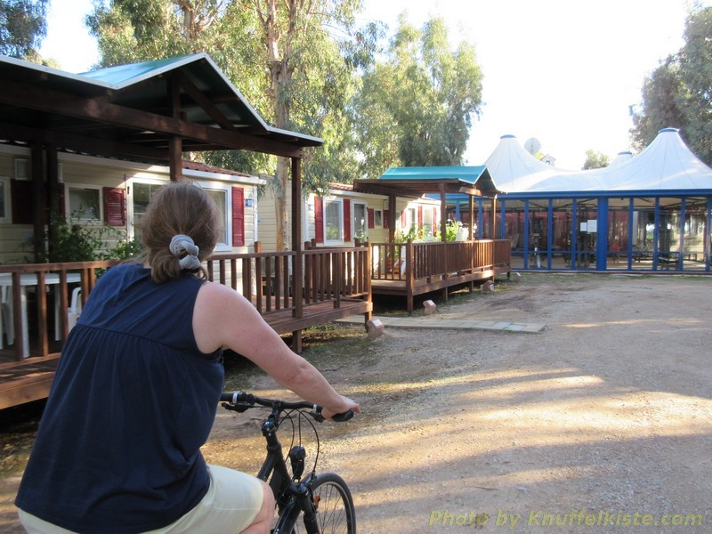 kleine Fahrradtour über den Platz