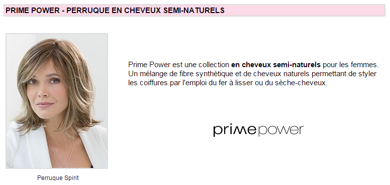 Perruque femme Prime Power By Ellen Wille
