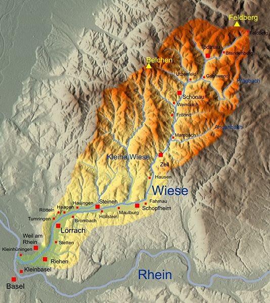 Geografische Karte_Todtnau nach Zell / i.W.
