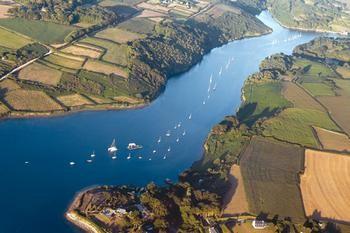 Vue aérienne rivière Aber Wrach