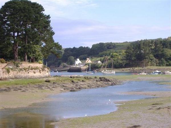 La rivière Aber Wrach à marée basse