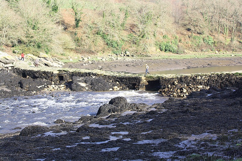 Devil's bridge at low tide