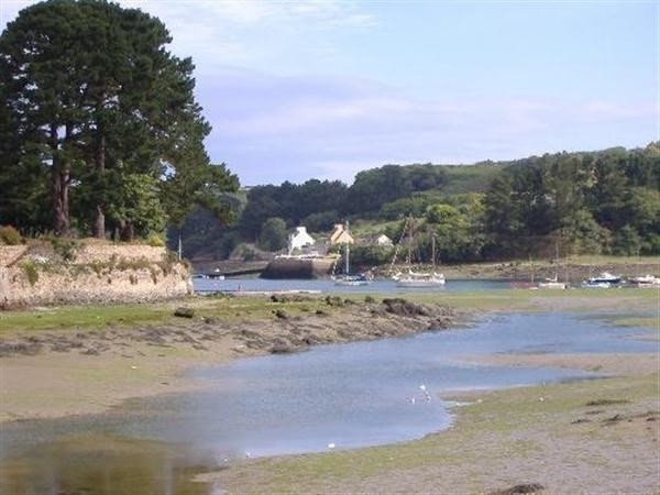 Aber Wrach river at low tide