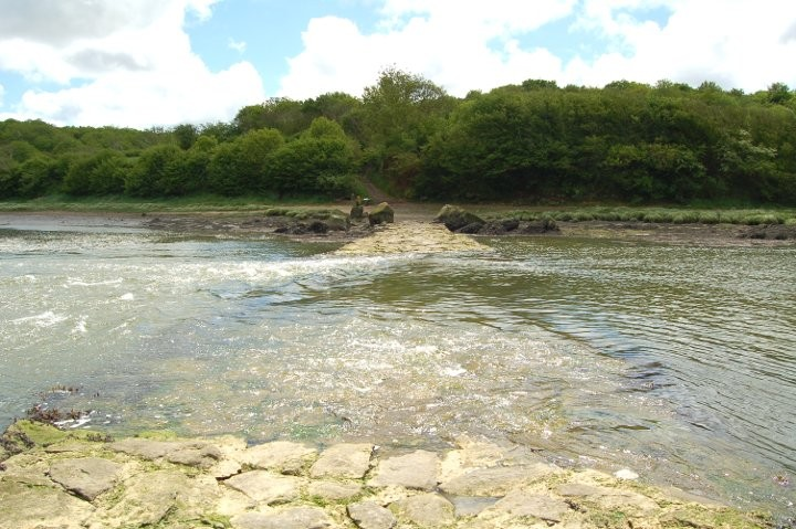 Devil's bridge at high tide