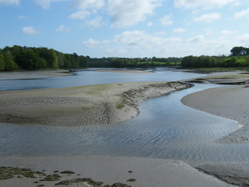 Aber Benoit river at low tide