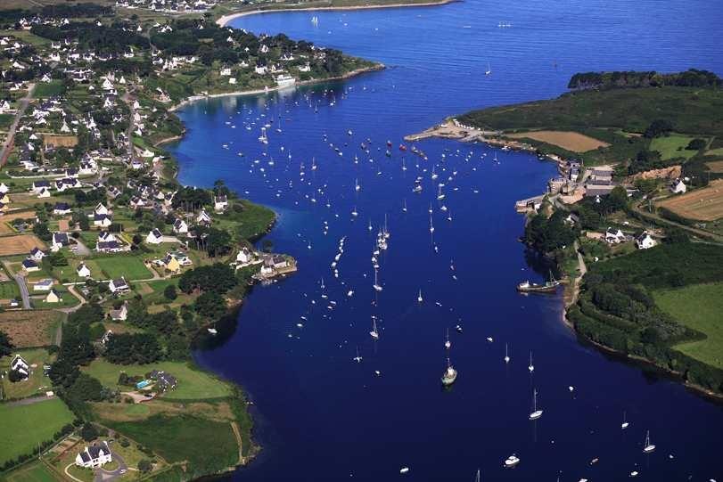Aber Benoit river aerial view