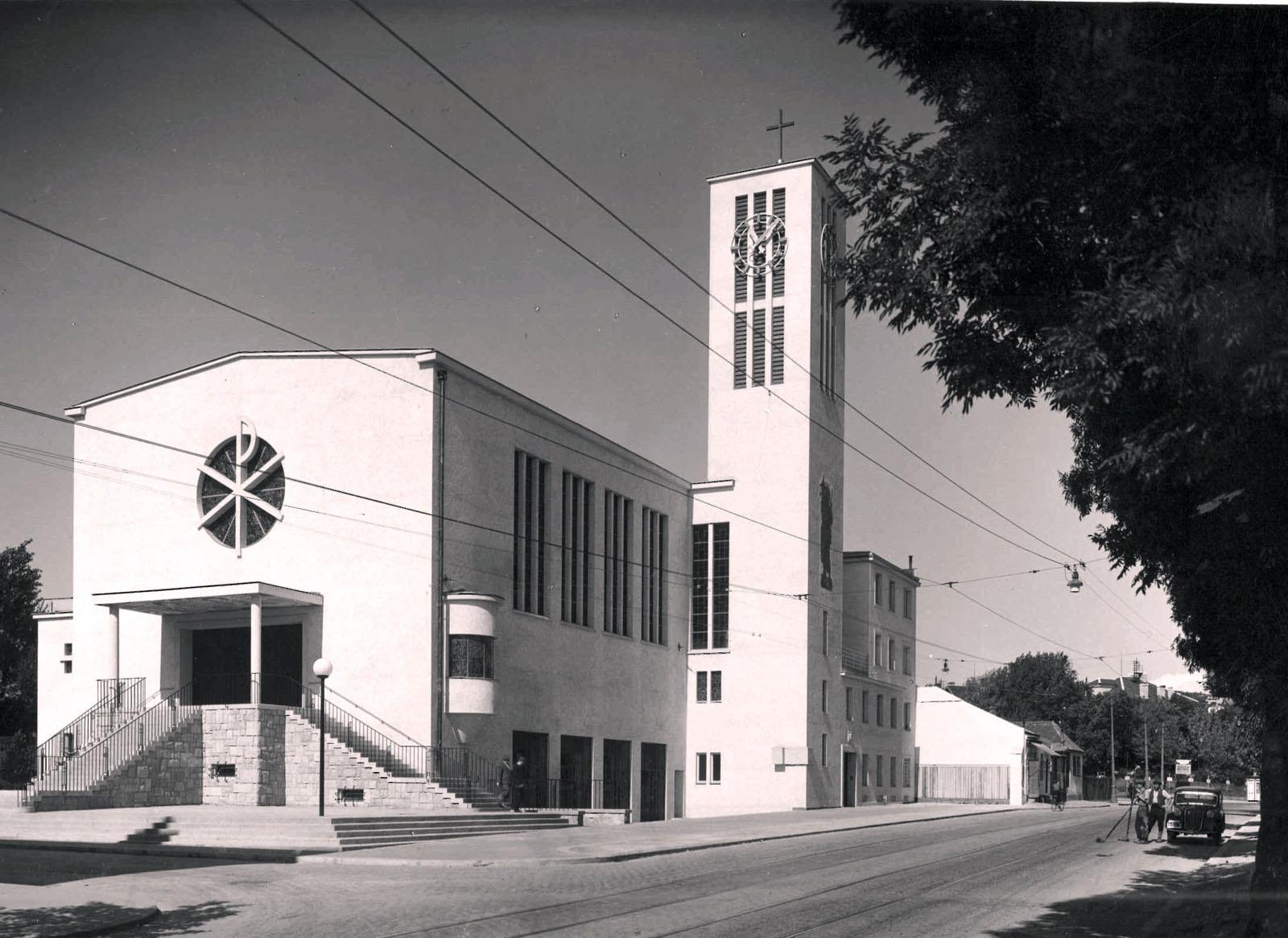 Kirche 1936 (Jahr der Kirchweihe)