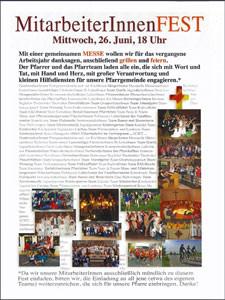 Einladung zum Mitarbeiterfest 2013