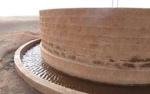 Ansicht einer erweiterten Wasserstelle © Caritas International