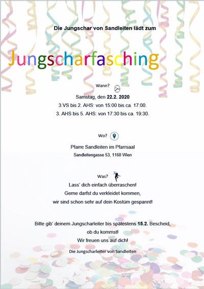 Einladung zum Faschingsfest 2020 (PDF)