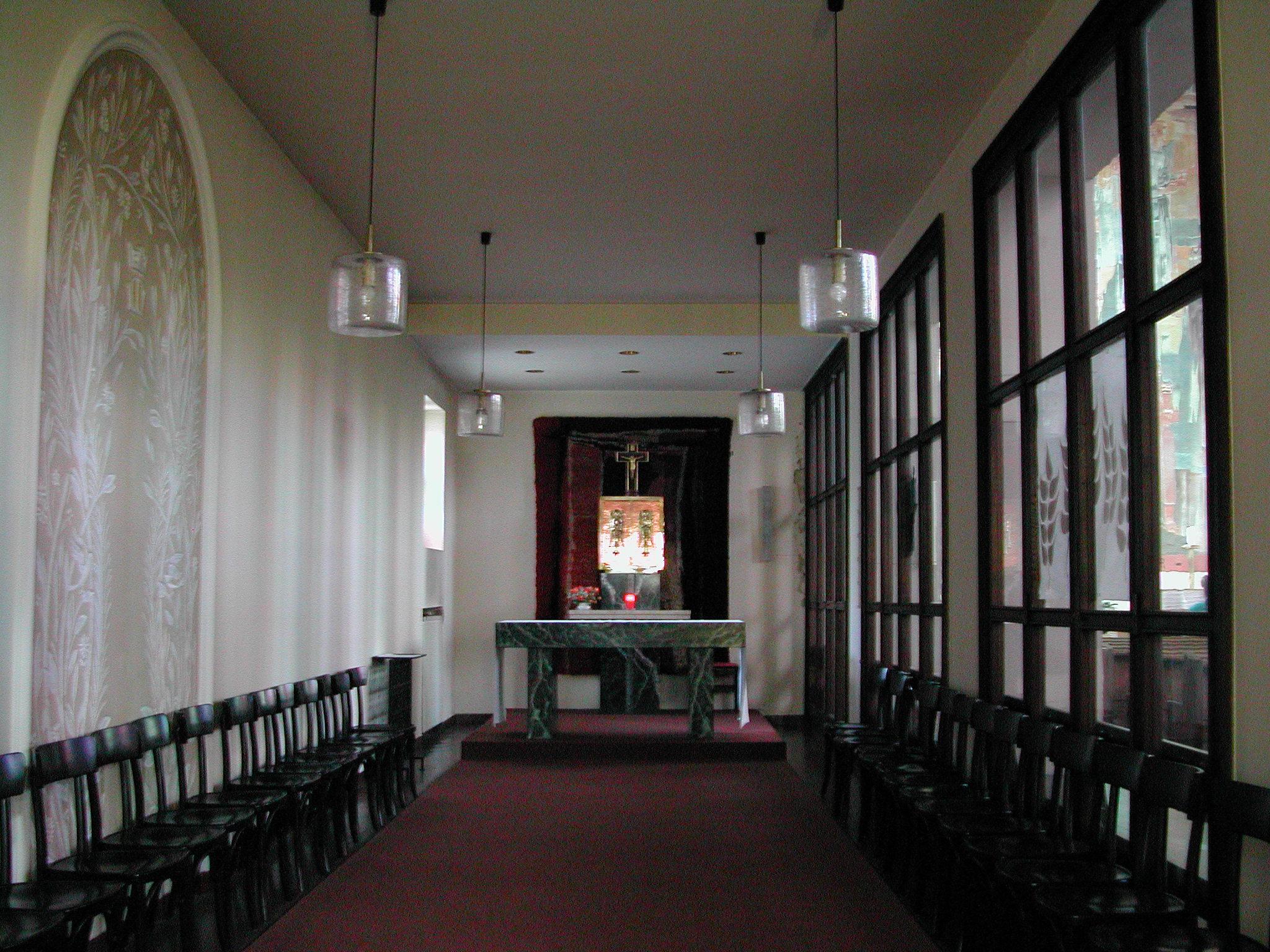 Seitenkapelle mit dem heiligen Tabernakel
