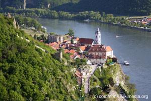 Dürnstein, die wohl bekannteste Touristenattraktion in der Wachau