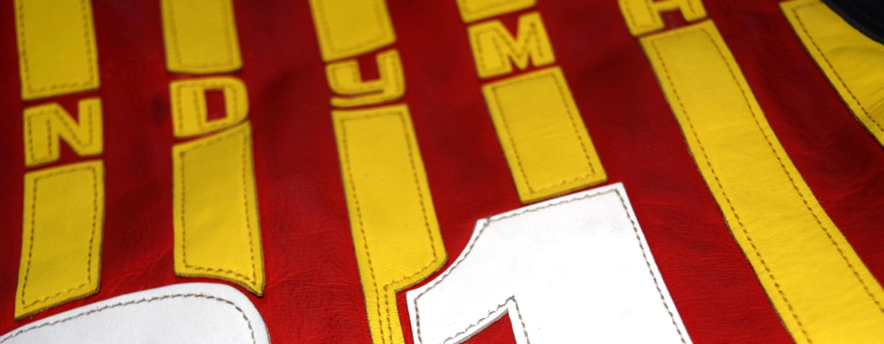 de curae | Candyman Racing Suit, vest left side detail – Thorsten Schlesinger