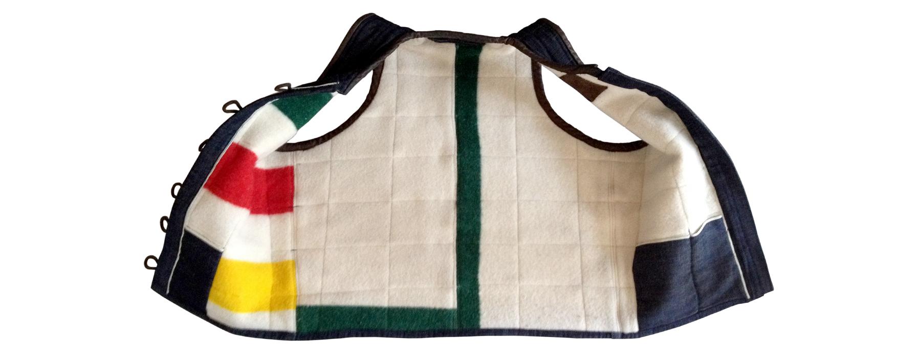 de curae | denim vest, woolen lining – Thorsten Schlesinger