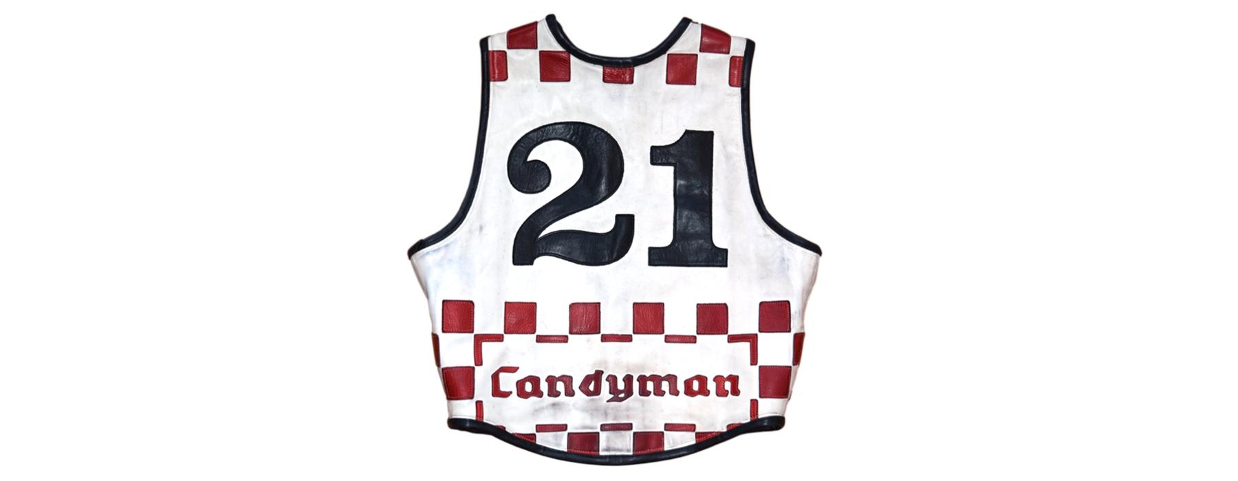 de curae | Candyman Racing Suit, vest right side back – Thorsten Schlesinger