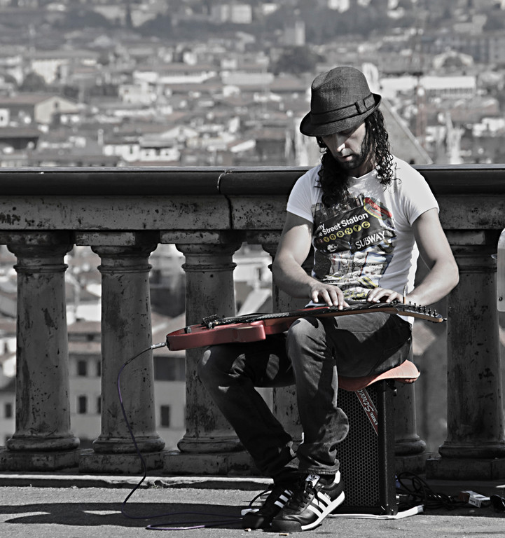 Street-Artist, Florenz