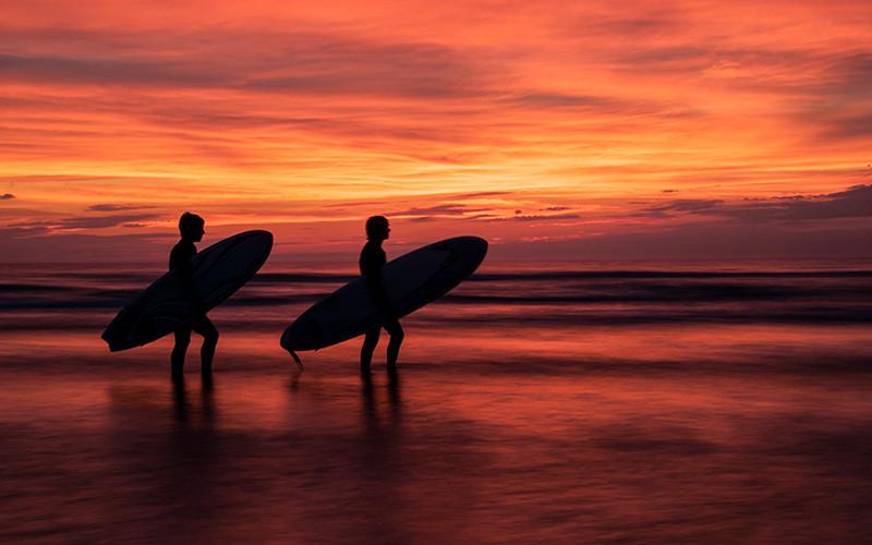 Sunset Surfing I , Cap-Ferret