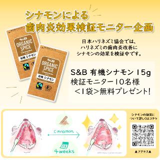シナモンによる歯肉炎効果検証モニター企画