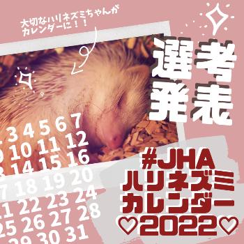 #JHAハリネズミカレンダー2022 選考発表予告!