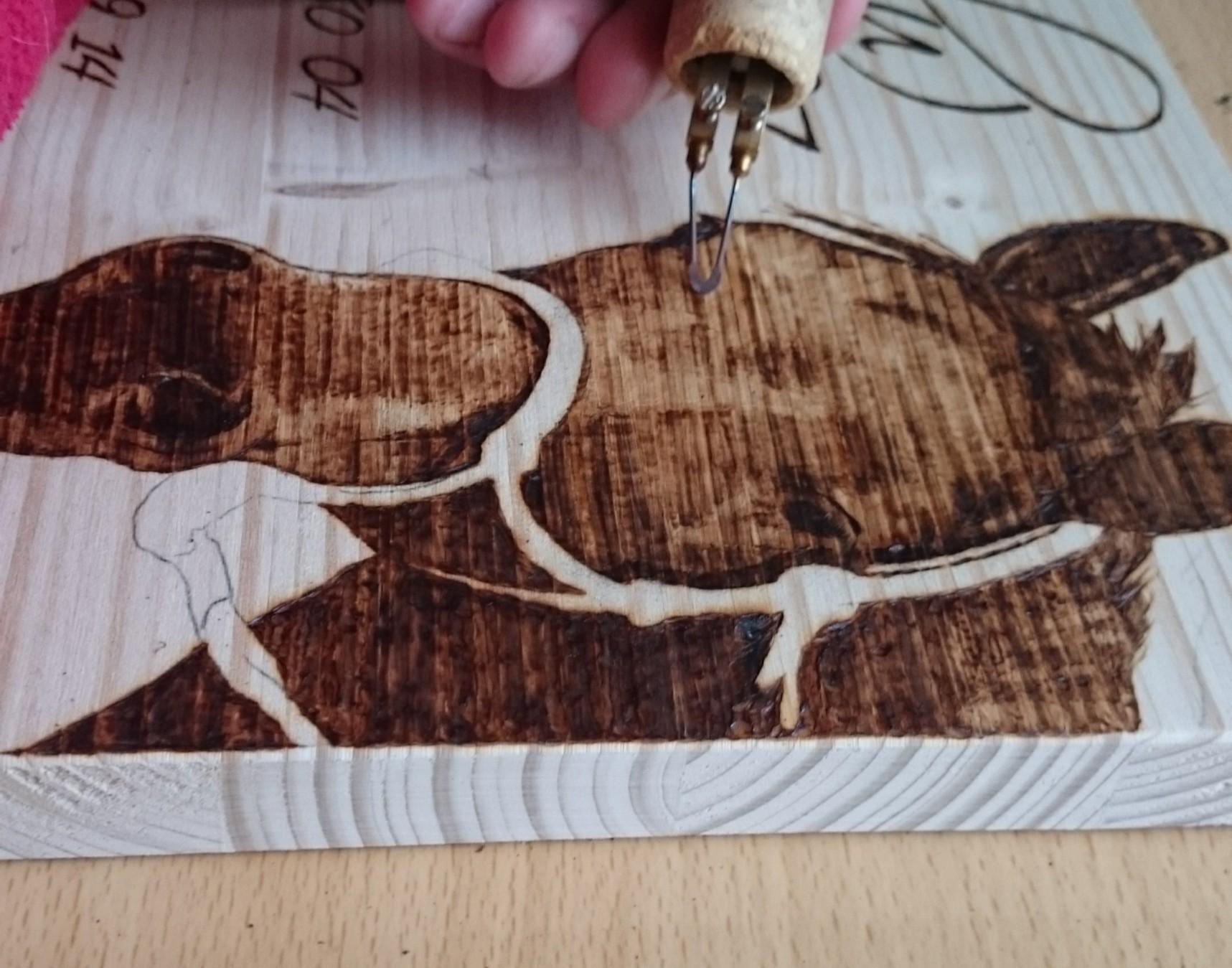 Brandmalerei 1a-handarbeit Portrait Holz Boxenschild Pferdeboxenschild Pferd Stallschild