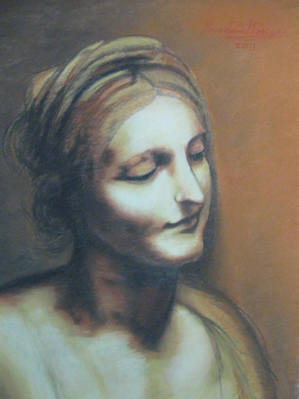 """Virgin"" by Leonardo Da-Vinci (1452 - 1519)"