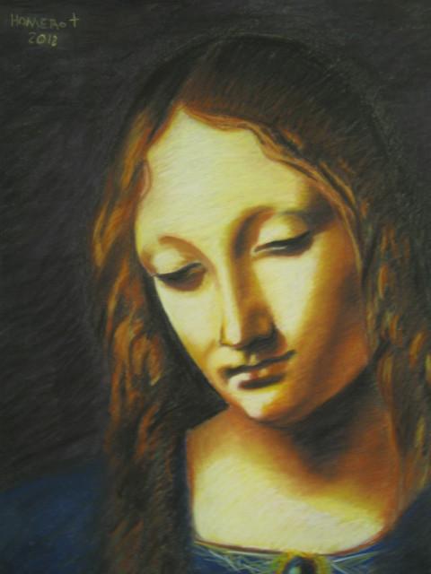 """""""Virgin in the Rocks"""" by Leonardo Da-Vinci  (1452 - 1519)"""