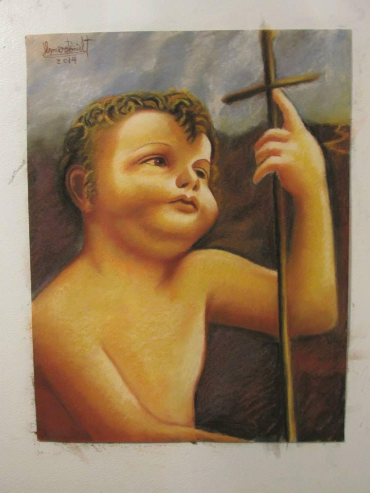 """Baby Jesus"" by Leonardo Da-Vinci  (1452 - 1519)"