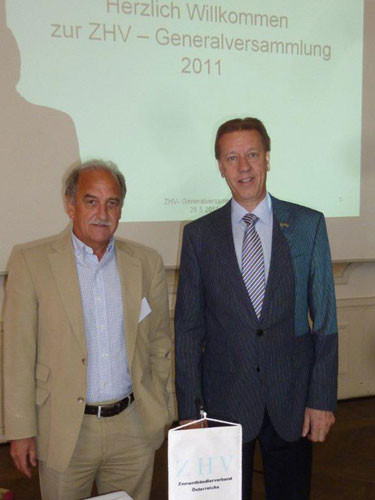 Das Präsidium des Zementhändlerverbandes: Direktor Josef Zott und Komm.Rat Stefan Erhardt