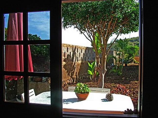 Blick aus dem Fenster der Ferienhauses
