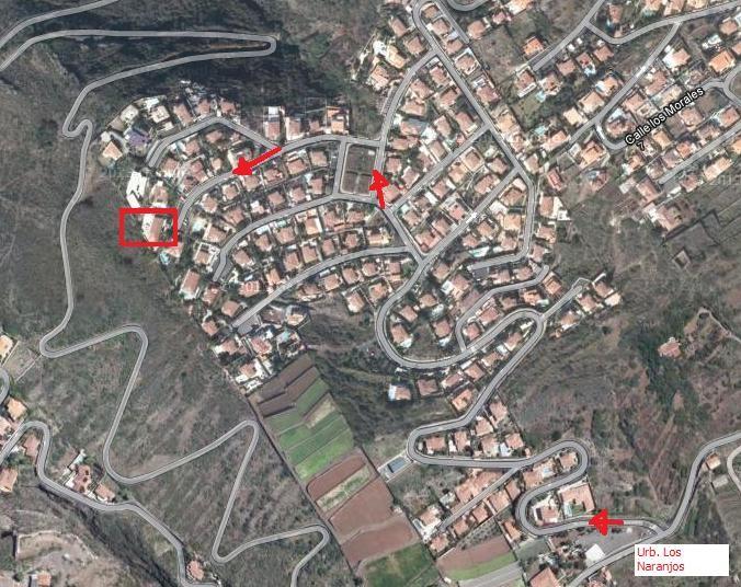 Anfahrst- Skitze für die Villa Chantal im Norden der Urlaubsinsel Teneriffa