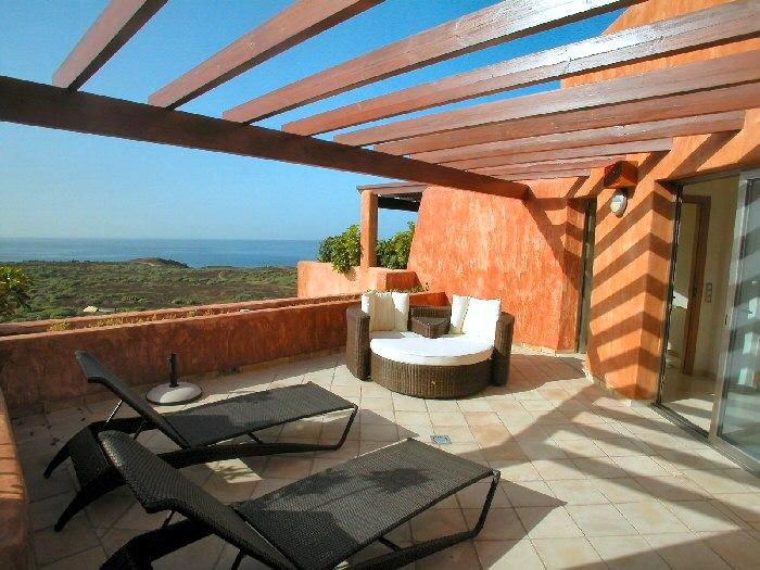 Dachterrasse vom Penthaus mit meerblick in Palm Mar für Ferienmietung auf Teneriffa exclusiv
