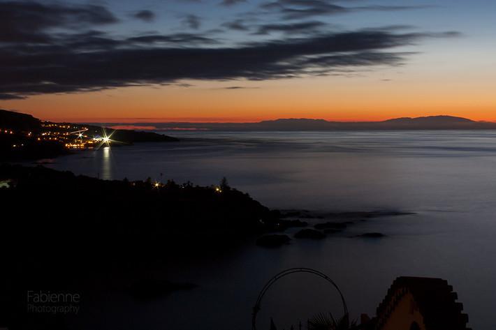 Sonnenuntergang von der Terrasse auf genommen.