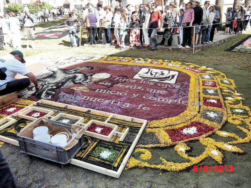 Der weltberühmte Blumenteppich in La Orotava