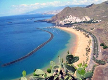Teneriffa mit den schönsten Stränden der Insel.